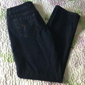 Bandolino blue jeans size 8 dark wash.
